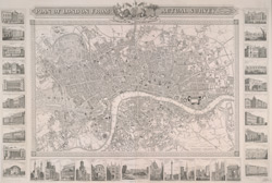 Plan of London from actual survey. With all the railroads and improvements